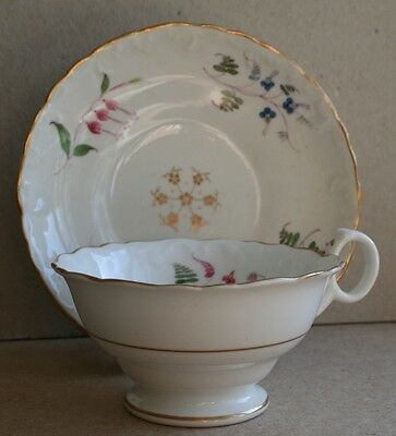 Victorian Staffordshire Cup & saucer Hand painted
