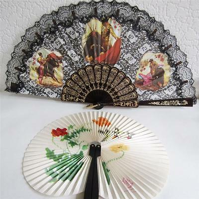 Two Decorative Hand Fans - Chinese & Spanish