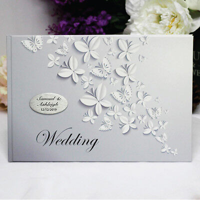 Wedding Guest Book- White Butterfly - Add a Name & Message