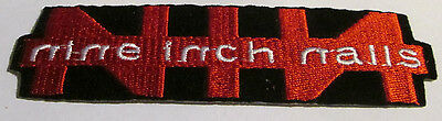 Nine Inch Nails Collectable Rare Vintage Patch Nin Embroided 90's Metal Live