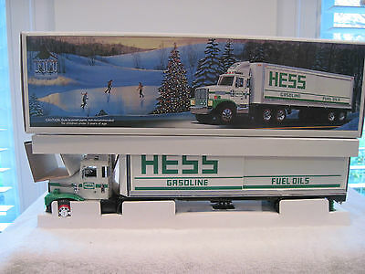 @look@ Rare 1987 Hess Truck Made In China Diamond Plate Fuel Tank  Very Htf Mint