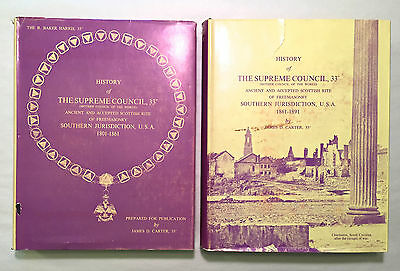 History of The Supreme Council 33 Freemasonry Two Vols 1801-1891 - Harris Carter