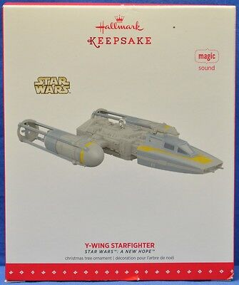 Hallmark Christmas Ornament Star Wars: A New Hope Y-Wing Starfighter with Sound