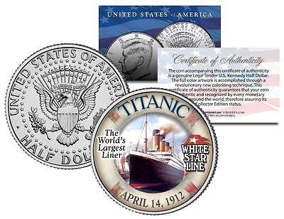 1912 TITANIC *Worlds Largest Ship* U.S. MINT KENNEDY WITH DISPLAY BOX & CAPSULE