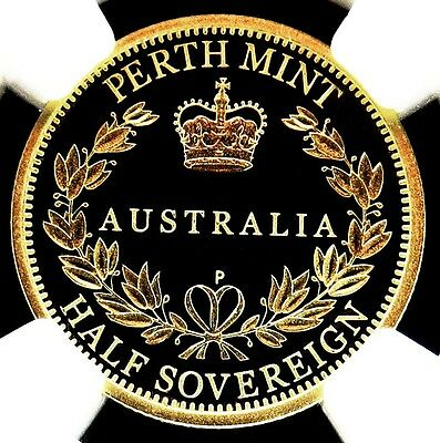 2005 Gold Australia Half Sovereign Perth Mint Coin Ngc Proof 69 Ultra Cameo