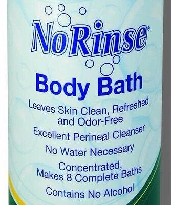 NORINSE BODY BATH 3-8oz Bottles Clean Anytime DisabledCampingTravelKidsMilitary