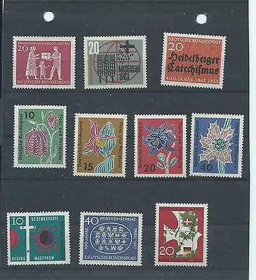 Germany stamps. 1963 MNH lot including Flora etc (W315)