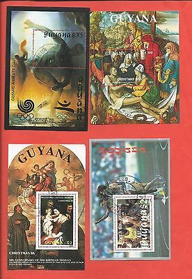 Guyana stamps.1988 & 1993 minisheets used (CTO)  (X351)