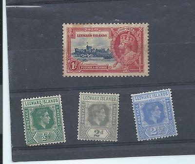 Leeward Islands stamps. George V & VI MH lot. Some foxing. (X950)
