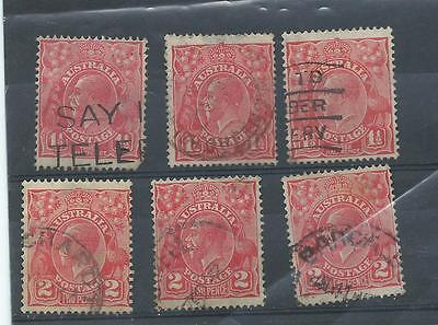 Australia stamps. George V GV used. (S941)