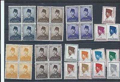 Indonesia stamps.  1951 & 1964 Sukarno stamps MNH (T935)