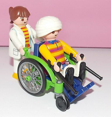 Playmobil Adult Wheelchair With Figures