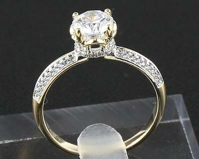1.92 Carat Natural Diamond 14Kt Solid Yellow Gold  Men Rings Size10