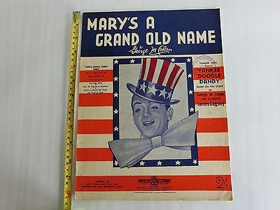 1905 Mary's A Grand Old Name Song Music Sheet-James Cagney- Warner Bros.