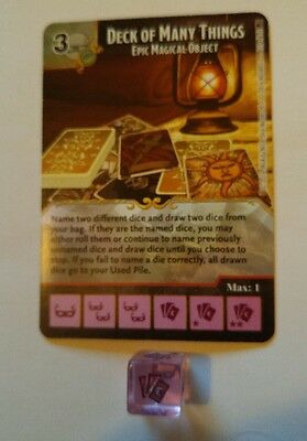 Dice Masters Deck of Many Things super rare w/die