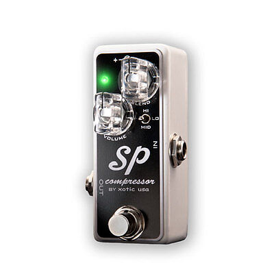 XOTIC SP Compressor Nano-Sized Guitar Comp Effect Pedal GENTLY USED