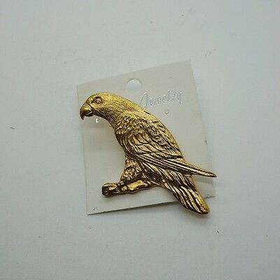 RAWCLIFFE Fine Pewter 1983 Gold PARROT Bird Pin Jewelry Brooch P. Davis