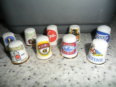 Thimbles advertising  great condition, 9, Virgin, Boots, Camp, Bisto, Ovaltine