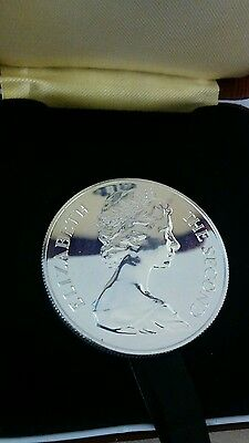 """St. HELENA 1 CROWN / 25 PENCE 1973 """"TERCENTTENARY"""" SILVER Coin (KM# 5a) PROOF"""