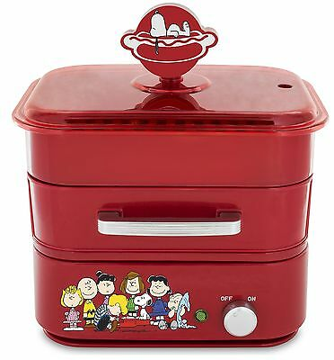 Smart Planet Hds-1s Peanuts Hot Dog Steamer Red