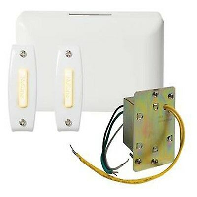 Broan BK142LWH NuTone Chime Kit (2 Lighted Push-Buttons 1 J-Box Transformer)