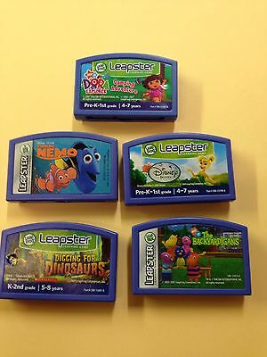 Lot of 5 LeapFrog Leapster Learning Games