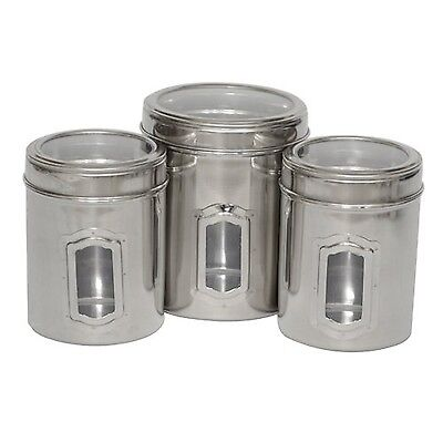 Iconic Pet 51662 Set of 3 Different Sizes-Canister with See Through Lids
