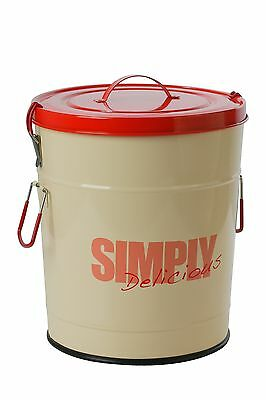 """One for Pets 1106-RD-S """"Simply Delicious"""" 17.6 lbs/8kg Food Can Red"""