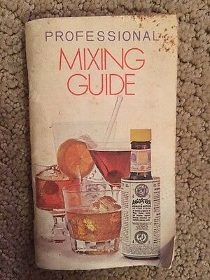 1972 Mixology Cocktail Recipe Books/guides-Professional Mixing From Angostura
