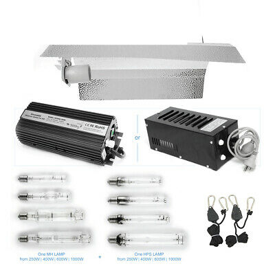 Hydroponic Light Kit - 250W 400W 600W 1000W | Digital & Magnetic Ballast | HPS M