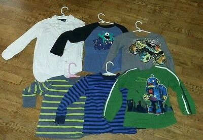 Lot of 6 Long Sleeve Boys Shirts 4/5 and 5T
