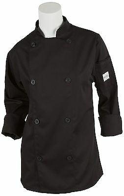 Mercer Culinary M61030BK3X Genesis Women's Chef Jacket with Traditional Butto...