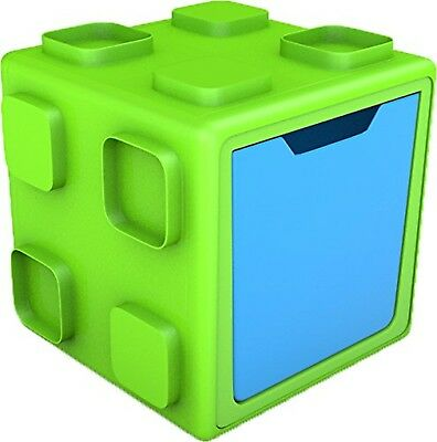 Chillafish BOX: Connectable Toy Storage and Play System Lime/Blue