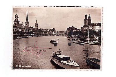 Zurich Switzerland, Used Photographic Postcard !!