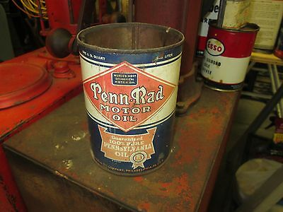 Early Original Penn Rad Motor Oil One Quart Can Metal