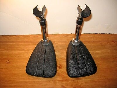 """2 Microphone stands. Vintage Cast Iron Classic Design 5/8"""" thread With Ciip"""