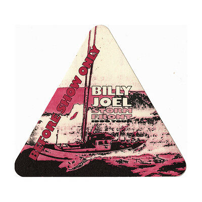 Billy Joel authentic Before Show 1990 tour Backstage Pass