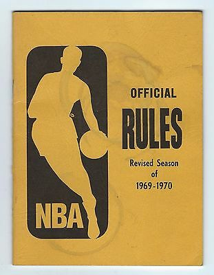 1969-70 NBA Official Rules Revised Rule Book