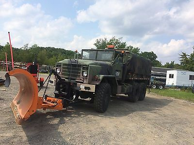 1990 BMY M923A2 5 ton 6x6 cargo with 11ft angle snowplow