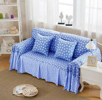Tiny Floral Linen Blend Slipcovers Sofa Cover Pet Protector for 1 2 3 4 seater L