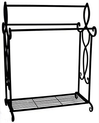 Brand New Large French style Wrought Iron High Quality Towel Rack Holder