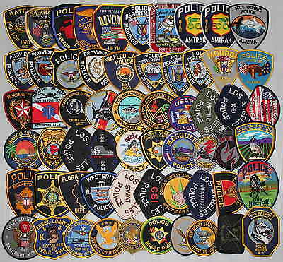 Lot Of 60 Various Nice Police Patches 3-2