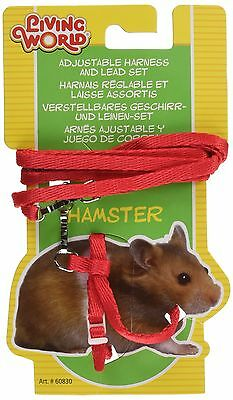 Living World Figure 8 Harness and Lead Set for Hamsters 75cm (30-Inch) Red
