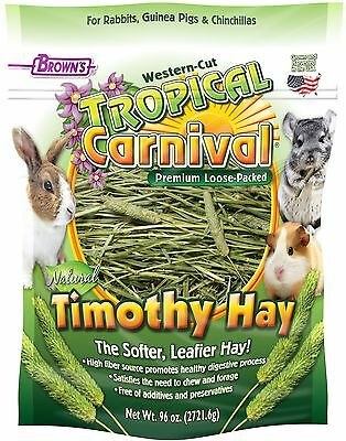 F.M. Brown 1 Piece Tropical Carnival Natural Timothy Hay 96-Ounce