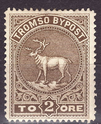 Tromso Bypost 2 ore local stamp Norway