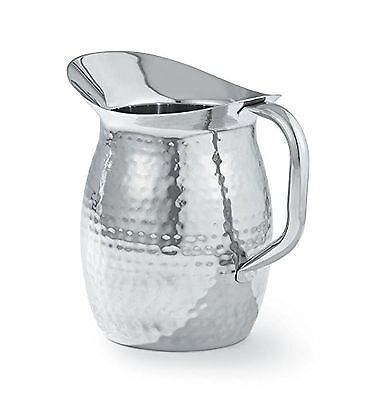 Artisan Stainless Steel Bell Shaped Serving Pitcher Hammered Texture