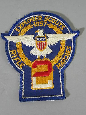 1957 Explorer Scout Rifle Matches Patch / FREE Shipping