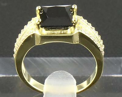2.99Carat Natural Black Diamond Ring 14K Solid Yellow Gold #8