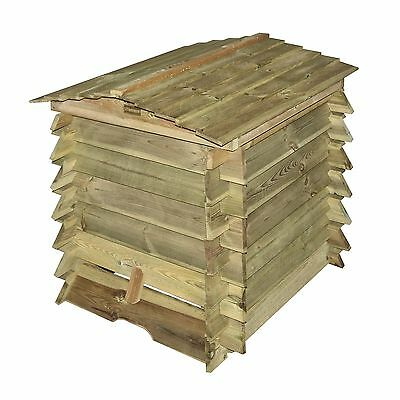 Bosmere BEECOMP1 Rowlinson Beehive Composter with Lifting Lid Natural Timber ...
