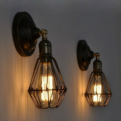 Vintage Industrial Loft Rustic Wall Sconce Wall Light Wall Lamp Fixtures Fitting